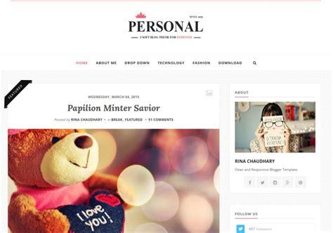 Personal Clean Blogger Template • Blogspot Templates 2019