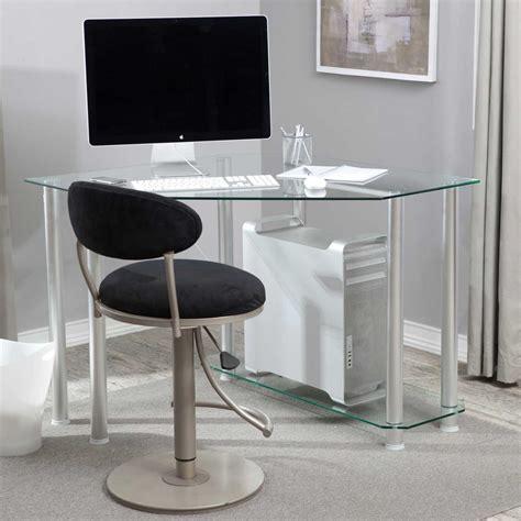 glass corner computer desk glass corner desk for home office