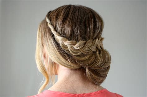 Lace Braid Wrapped Bun