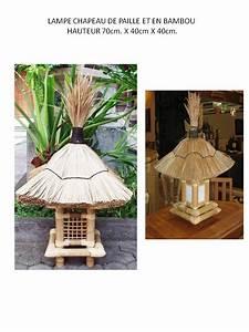 Chapeau De Lampe : lampe chapeau de paille et en bambou ~ Melissatoandfro.com Idées de Décoration