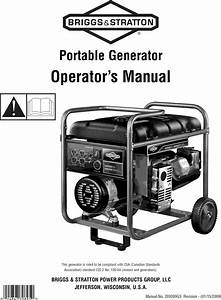 Briggs  U0026 Stratton 030439 User Manual Generator Manuals And