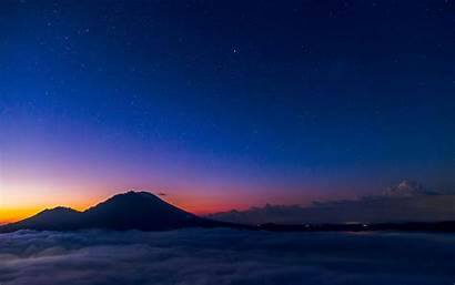 Sky Starry Night Nature Mountain Wallpapers Theme