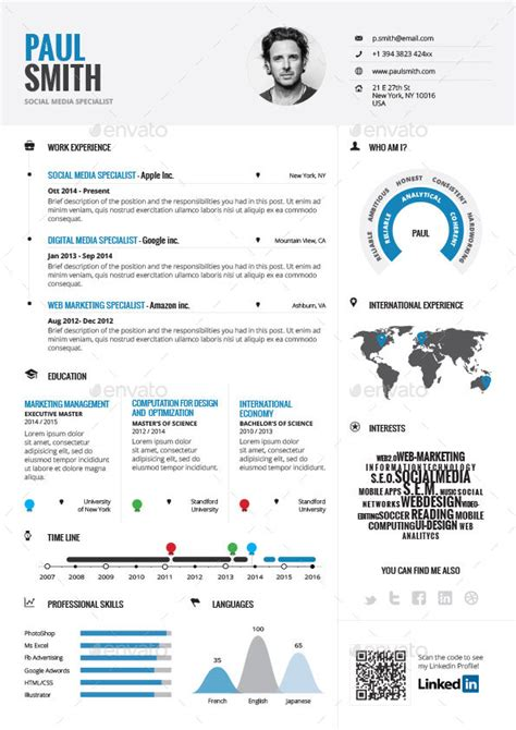 Infographics Resume Software by Infographic Resume Vol 1 By Paolo6180 Graphicriver