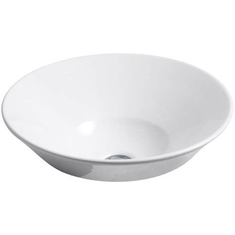 home depot white vessel sink kohler conical bell vitreous china vessel sink in white k