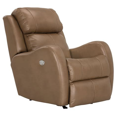 city furniture finn brown microfiber power rocker recliner
