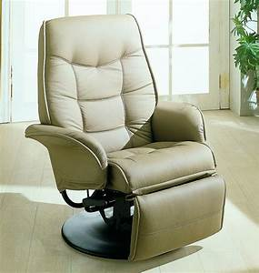 Euro, Style, Swivel, Chair, With, Recline, In, Beige