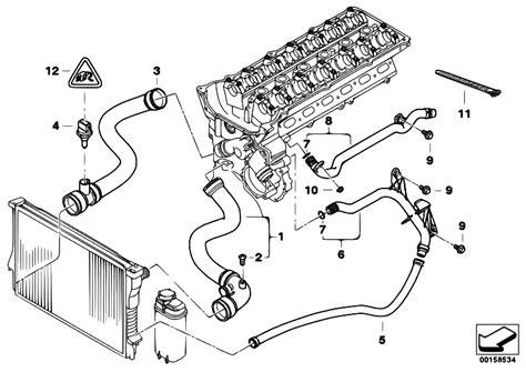 Bmw M52 Engine Diagram by Original Parts For E46 320i M52 Sedan Engine Cooling