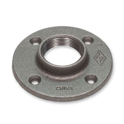black iron floor l 3 4 quot black malleable iron floor flange fitting pipe npt ebay