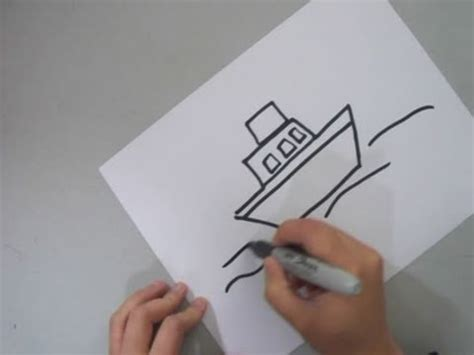 House Boat Drawing Easy by How To Draw A Tug Boat Ep Simplekidscrafts