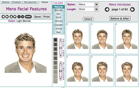 Men's Virtual Hairstyle Makeovers Online Tool