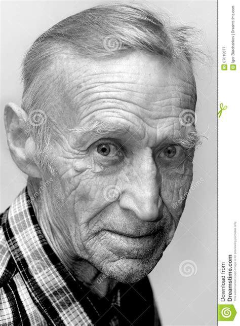 Gezicht van de oude man stock afbeelding. Afbeelding