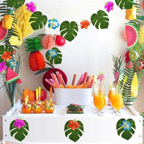 luau hawaiian party wall decoration kit birthday  pcs