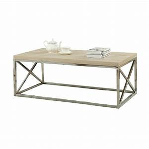modern rectangular coffee table with natural wood top and With wood top coffee table metal legs