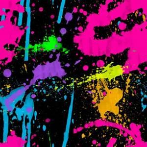 Neon colors and paint splatter:-)   Neon decorations ...