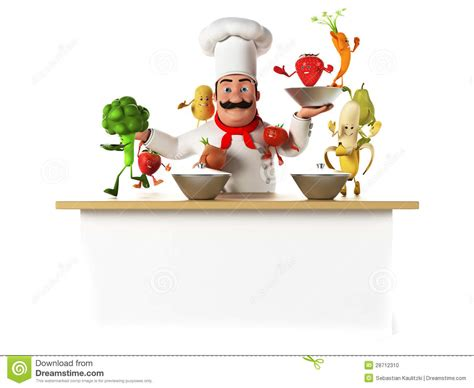 cuisine de a z chef chef de cuisine avec des vegatables photo stock image