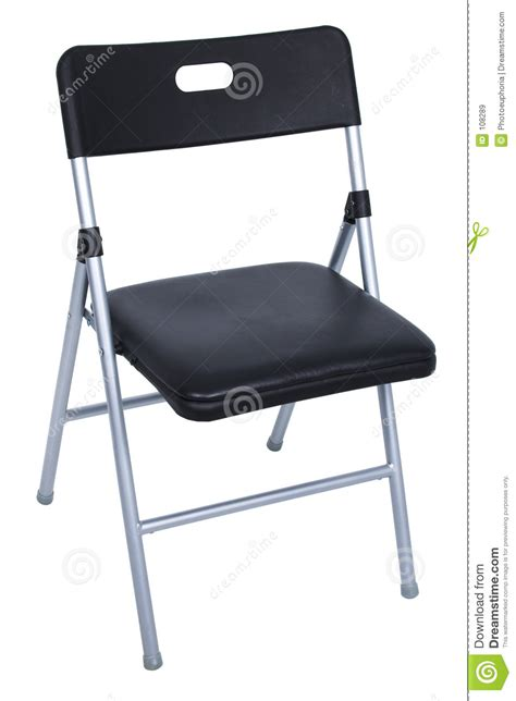 black and silver folding chair white royalty free