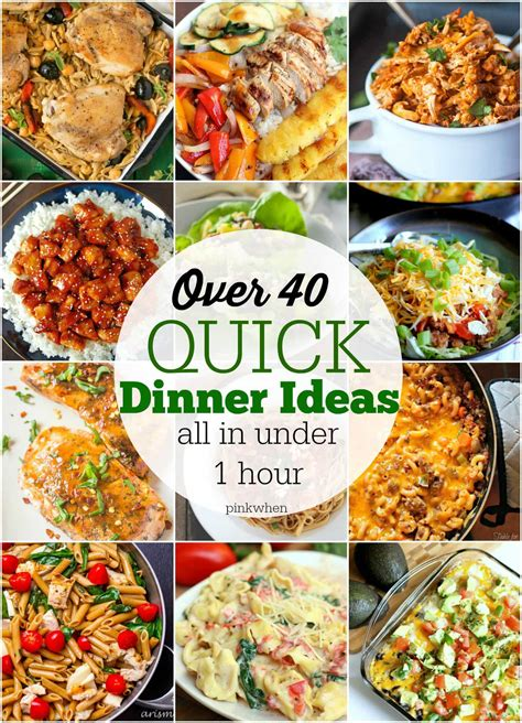 fast meal ideas 40 quick dinner ideas pinkwhen