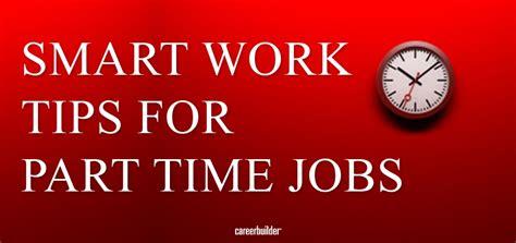 smart work tips  part time jobs