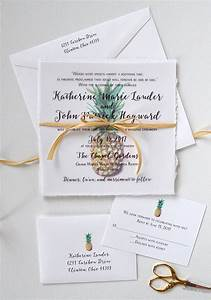 tropical watercolor pineapple wedding invitations www With wedding invitations with pineapple
