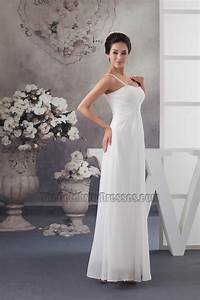 simple chiffon a line spaghetti straps informal wedding With simple informal wedding dresses