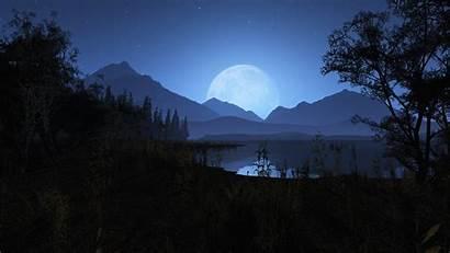 Night Wallpapers Mountains Background Nighttime Wallpapersafari