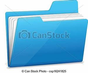 vector illustration of blue file folder with documents With documents folder logo