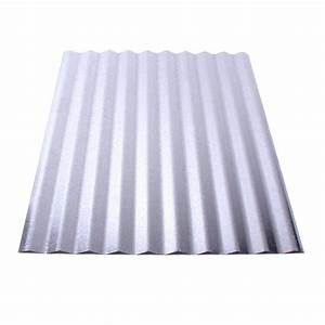 fabral 8 ft galvanized steel corrugated roof panel With 18 foot metal roofing