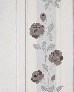 Tapete Mit Sprühkleber : blumen tapete landhaus edem 766 30 deluxe floral streifen ~ Lizthompson.info Haus und Dekorationen