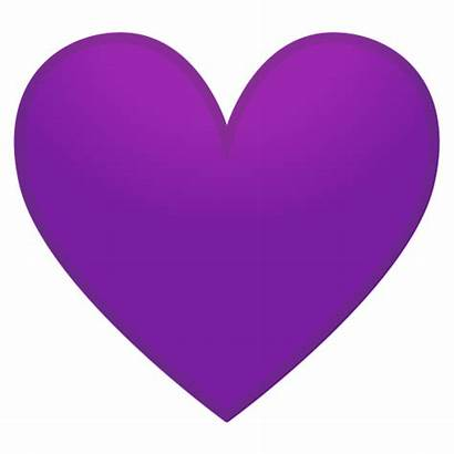 Emoji Purple Heart Transparent Icon Viola Ungu