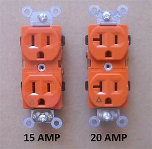 Isolated Ground Duplex Receptacle Plug Outlet 120v 15a 20a Amp Orange