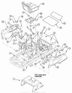 Cub Cadet Parts On The Operator U0026 39 S Platform Diagram For Rzt-50  17ba5a7p709