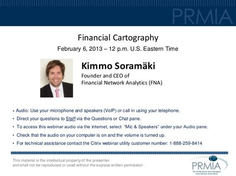 Financial Cartography  Prmia Webinar