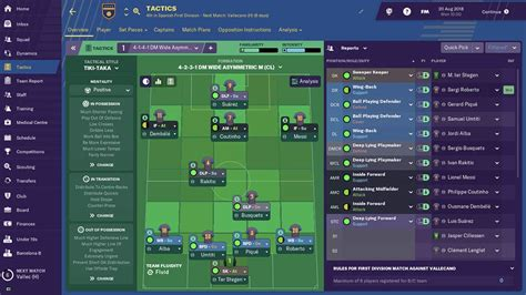football manager  barcelona team guide player ratings tactics realsport