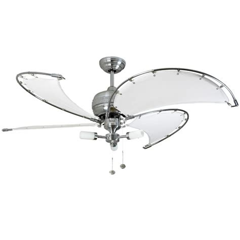 canvas blade ceiling fan fantasia spinnaker 52 inch pull cord stainless steel