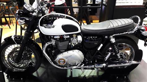 Triumph Bonneville T120 Jet Black & Pure White