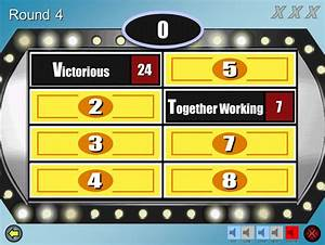 Family feud customizable powerpoint template youth for Family feud powerpoint template with sound