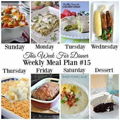Meal Weekly Week Dinner Plan Planner Recipes