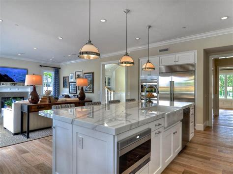 open kitchen island open concept kitchen and living room layouts jpg 1241 215 931 1206