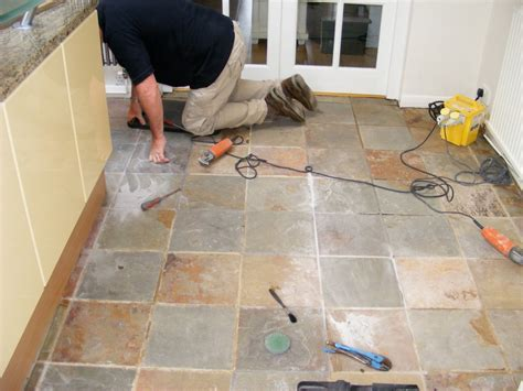 Removing Grout From Slate Tile by Sealing Hertfordshire Tile Doctor