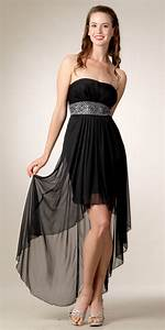 black high low wedding guest dress with a small short With short sleeve dresses for wedding guests