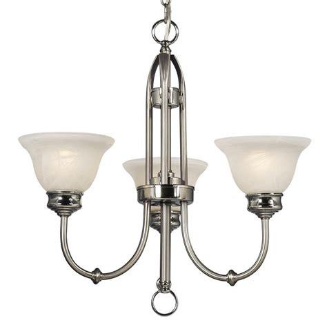 brushed nickel chandelier filament design negron 3 light brushed nickel and polished