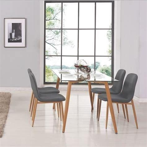 chaise pour table a manger table a manger verre et bois achat vente table a