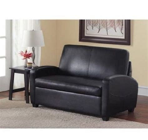 loveseat pull out sofa bed sleeper sofabed pull out faux leather