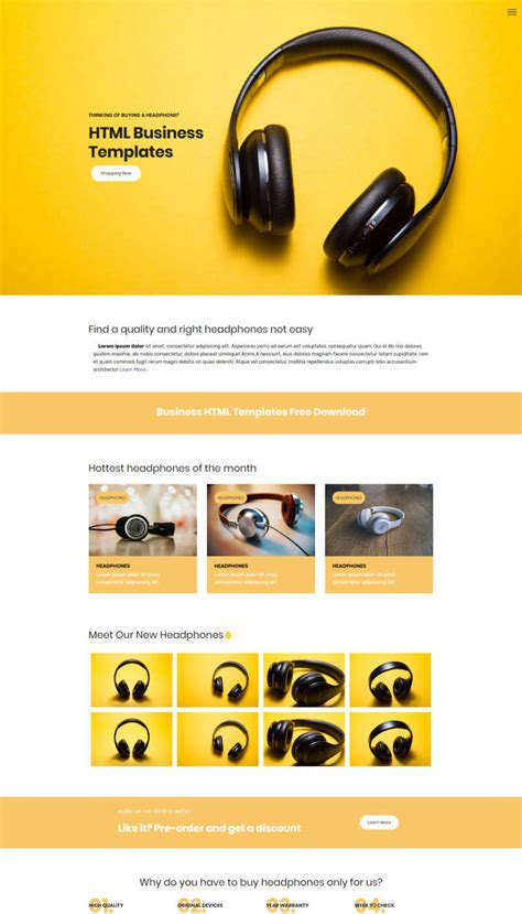 Website Designs Free Html Website Templates
