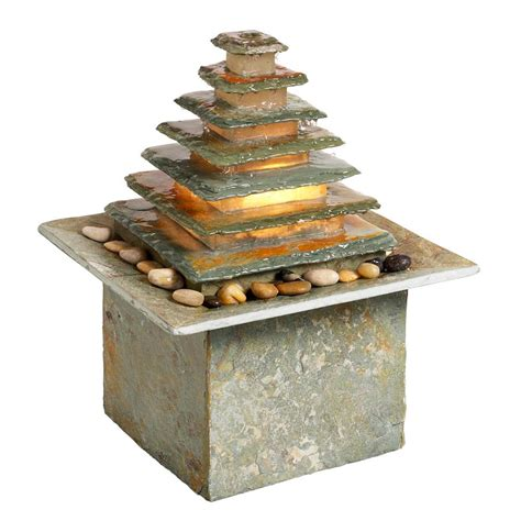 fountain zen outdoor water fountains indoor dainolite features tabletop waterfall table slate waterfalls garden light enhance signature mix perfect collection