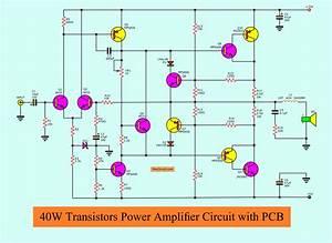 Wiring Schematic Diagram  2n3055 Mj2955 Power Amplifier