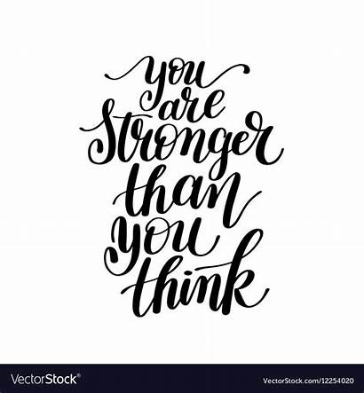 Stronger Than Think Clipart Word Quotes Phrase