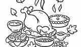 Coloring Dinner Feast Turkey Thanksgiving Drawing Pages Plate Drawings Printable License Getdrawings Sketch Sheet Getcolorings Paintingvalley Template sketch template