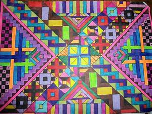 Tribal patterns- graph paper art 4 by Lyla-Amnethyst on ...