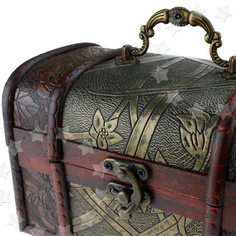 3 X Wooden Pirate Jewellery Storage Box Case Holder Vintage Treasure Chest New Ebay